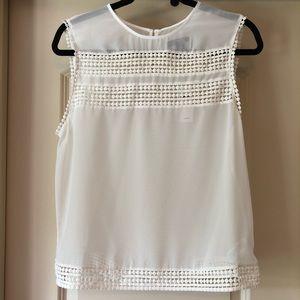 Sheer White Crochet Tank